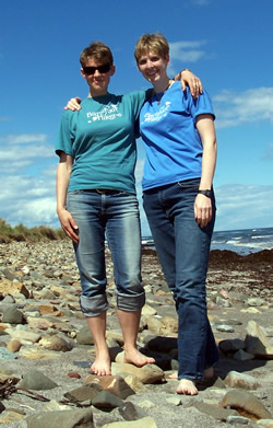 Lucy and Susan Letcher in Scotland
