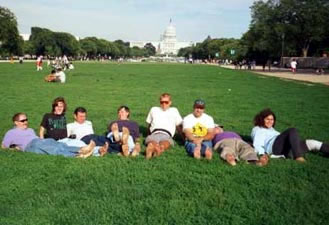 Barefooters on the National Mall