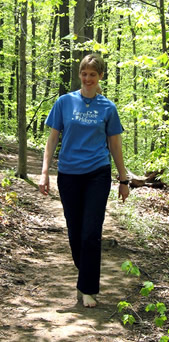 Barefoot Sister Susan Letcher on The Trail